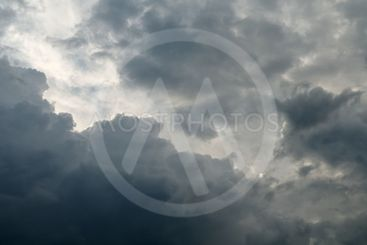 sky with gray clouds on summer day