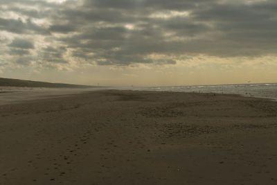 Cloudy beach