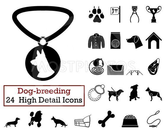 Set of 24 Dog-breeding