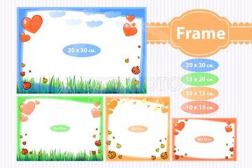 Photo frame for a child. Illustrations for design
