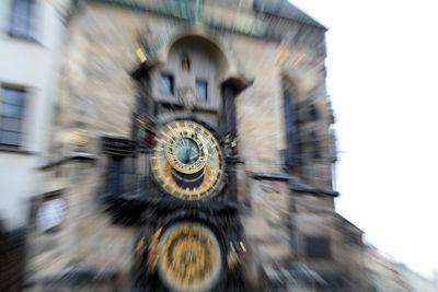 Clock in focus
