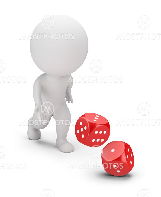 3d small people - dice