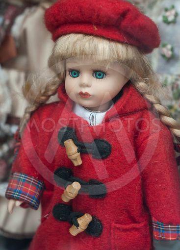 vintage dolls at flea market in the street