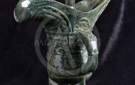 Chinese ancient jade carving art  of a wine cup