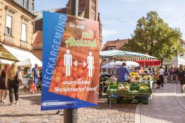 seasonal market in southern Germany