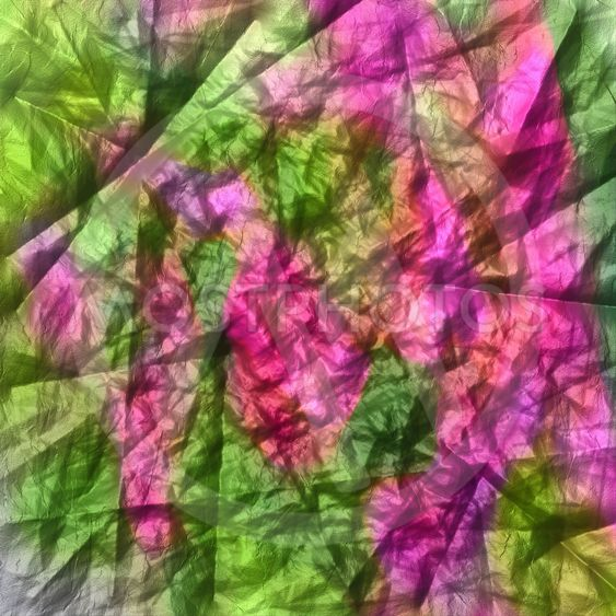 Crumpled paper in red and green