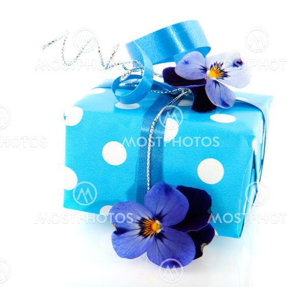 Blue little present