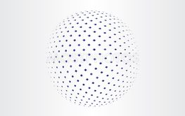 blue halftone globe icon