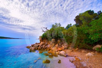 corsica, rocks in arbitro bay