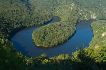 Meander of the Sioule River in France