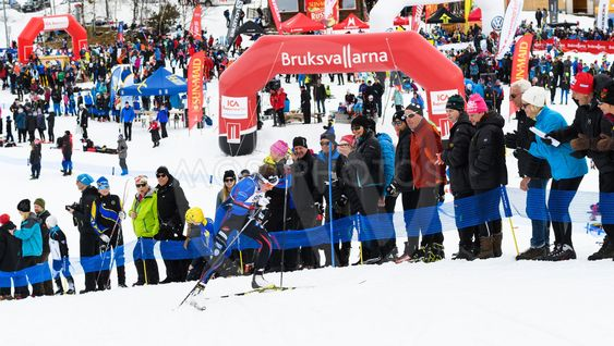 Winners Ebba Andersson, Sollefteå Skiing IF, at the...