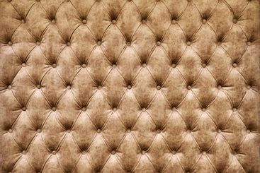 Carriage coupler. Panel of brown fabric made by the...