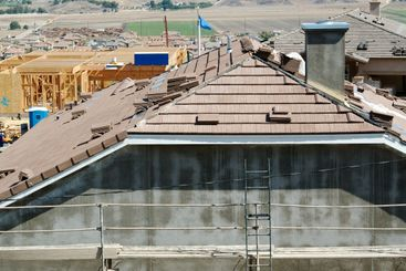 New Home Construction Site Roof