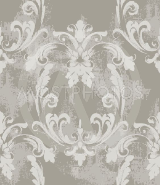 Baroque texture pattern Vector. Floral ornament...