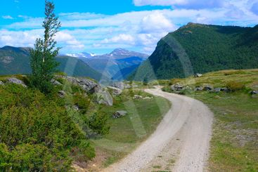 Roads in the Norwegian mountains