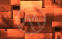 Digitally generated abstract background in orange autumn...