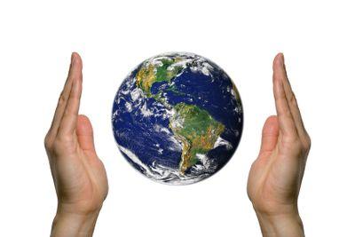 Earth between two hands 2