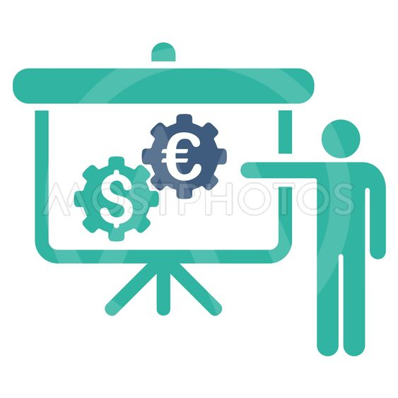 International Industry Presentation Flat Vector Icon