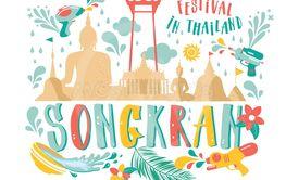 Songkran festival, Thailand New Year, Illustration of...