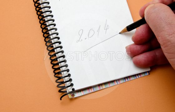 hand writing a number