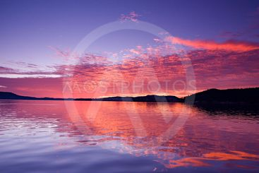 Australian Magenta Sunrise Seascape.