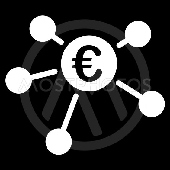 Euro Links Flat Vector Icon