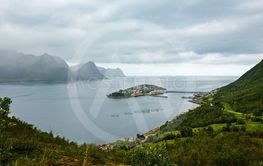 Summer Senja coast, Husoy, Norway