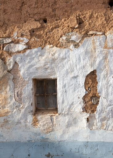 Window of a ruined house in an Andalusian village