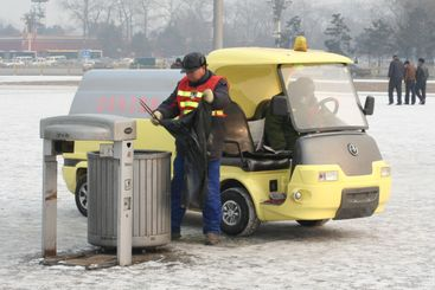 Garbage cleaner in Beijing