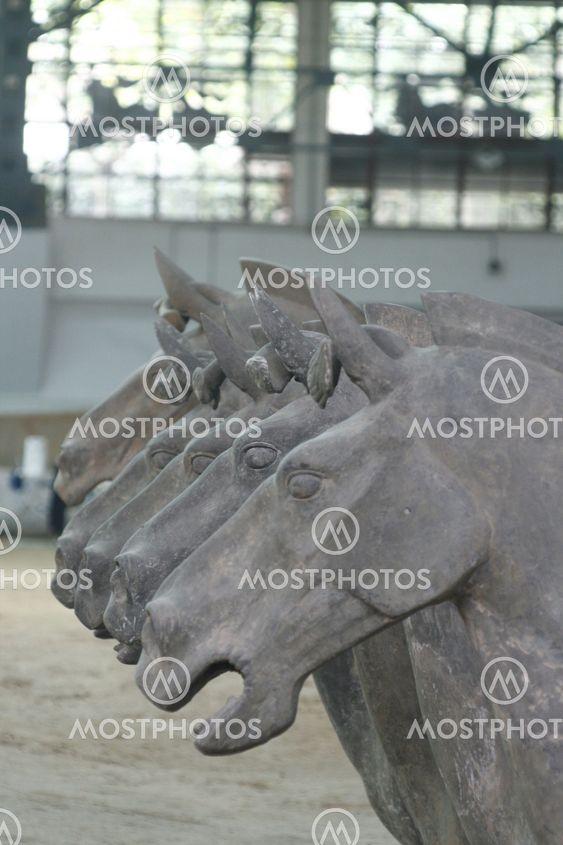 Terracotta Army Xian / Xi'an, China - Detail - hor