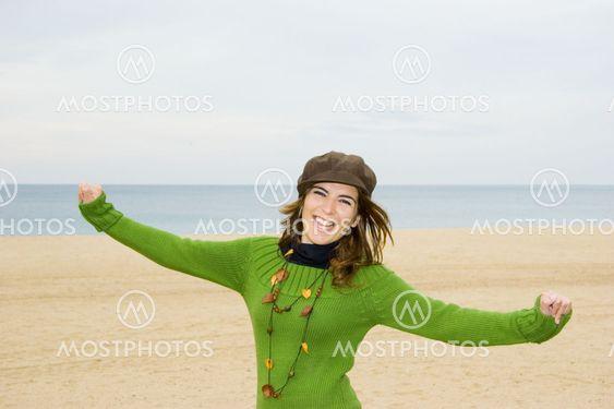 Glad kvinde