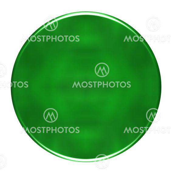 3D Green Round Button