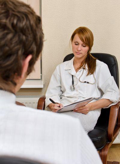 Male patient visiting his psychologist