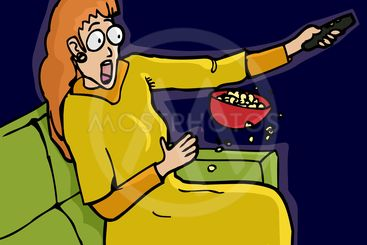 Scared Watching TV