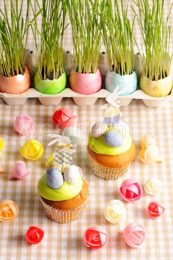 Easter homemade cupcakes