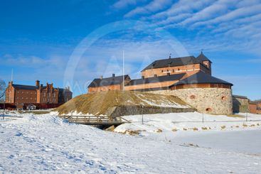 The ancient fortress of the Hameenlinna. Finland