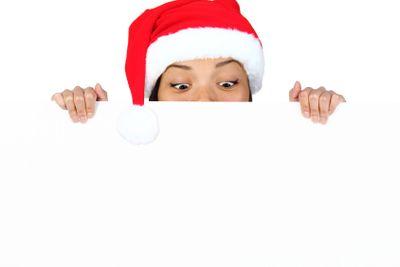 Christmas sign girl