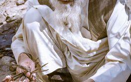 Man with long beard in Tajikistan