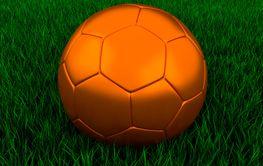 Bronze soccer ball