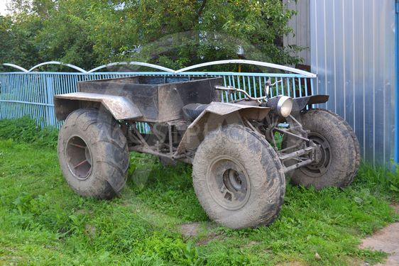 the old ATV in the village