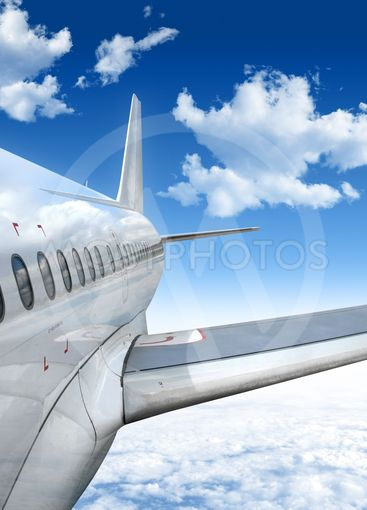 flying airplane