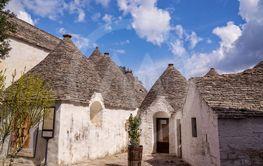 Stone house architecture in the village of Alberobello