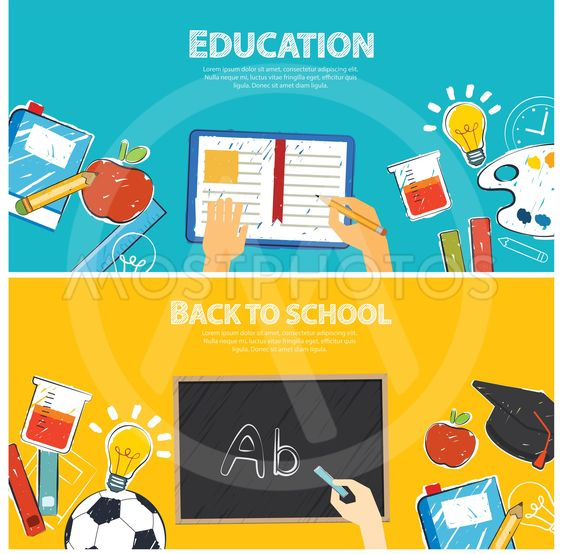 Education Banner And Back T By Khanisorn Chalermchan Mostphotos