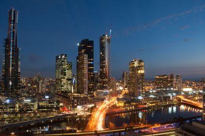 Melbourne Southbank Skyline at dusk