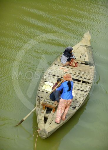 Traditional wooden boat, Cambodia