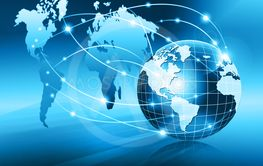 Best Internet Concept of global business. Globe, glowing...