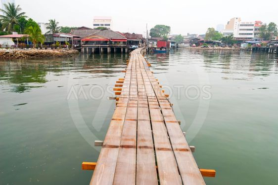 View on wooden bridge towards jetty, George town