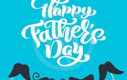 Happy fathers day isolated vector lettering calligraphic...