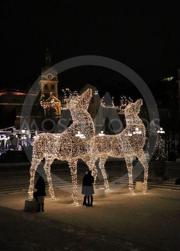 Julstämning i Kungsträdgården i Stockholm