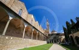 Courtyard and Cloister at the Basilica Santa Croce,...